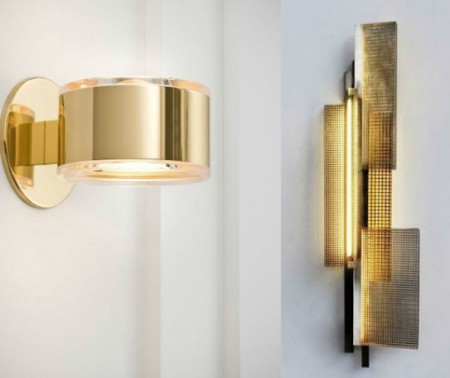 golden sconce