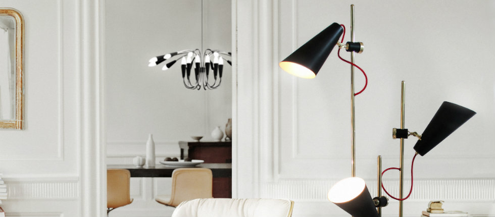 floor lamps Floor Lamps 10 Stilnovo Floor Lamps for the perfect home design delightfull evans 3 lights vintage floor lamp