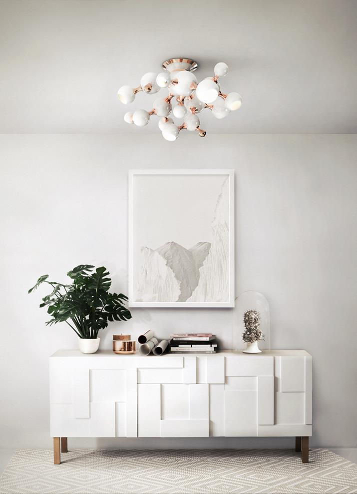 Atomic white chandelier by DelightFULL Top 5 Chandeliers to have in your Living room (Copy)