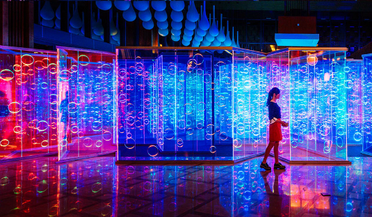 Brut Deluxe Light Maze by Brut Deluxe Creates an Immersive Room in China feature 16