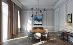Stylish Soon-to-Be-Ready Apartment in Baku Has the Best Ceiling Lights