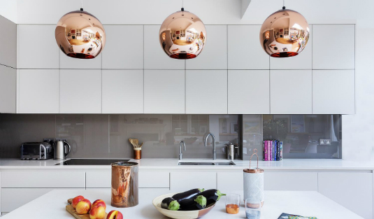 A Modern Kitchen Decor with Copper Lamps and Vintage Details copper lamps A Modern Kitchen Decor with Copper Lamps and Nordic Details A Modern Kitchen Decor with Copper Lamps and Vintage Details feat