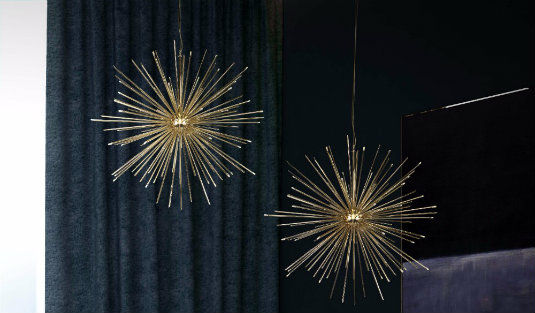 Contemporary Lighting Ideas A Gold Plated Suspension Lamp FEAT contemporary lighting Contemporary Lighting Ideas: A Gold-Plated Suspension Lamp Contemporary Lighting Ideas A Gold Plated Suspension Lamp FEAT