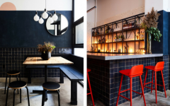 The Japanese Style With Contemporary Light Fixtures in the Mix!