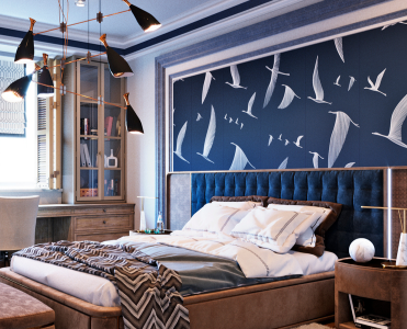 White and navy blue are the ones to go when you want to go classic. by Daria Sozykina auto draft Navy Blue Bedroom CAPAS PROJETOS 4072720004667d5bbcc9489e5fc3d7d91 371x300
