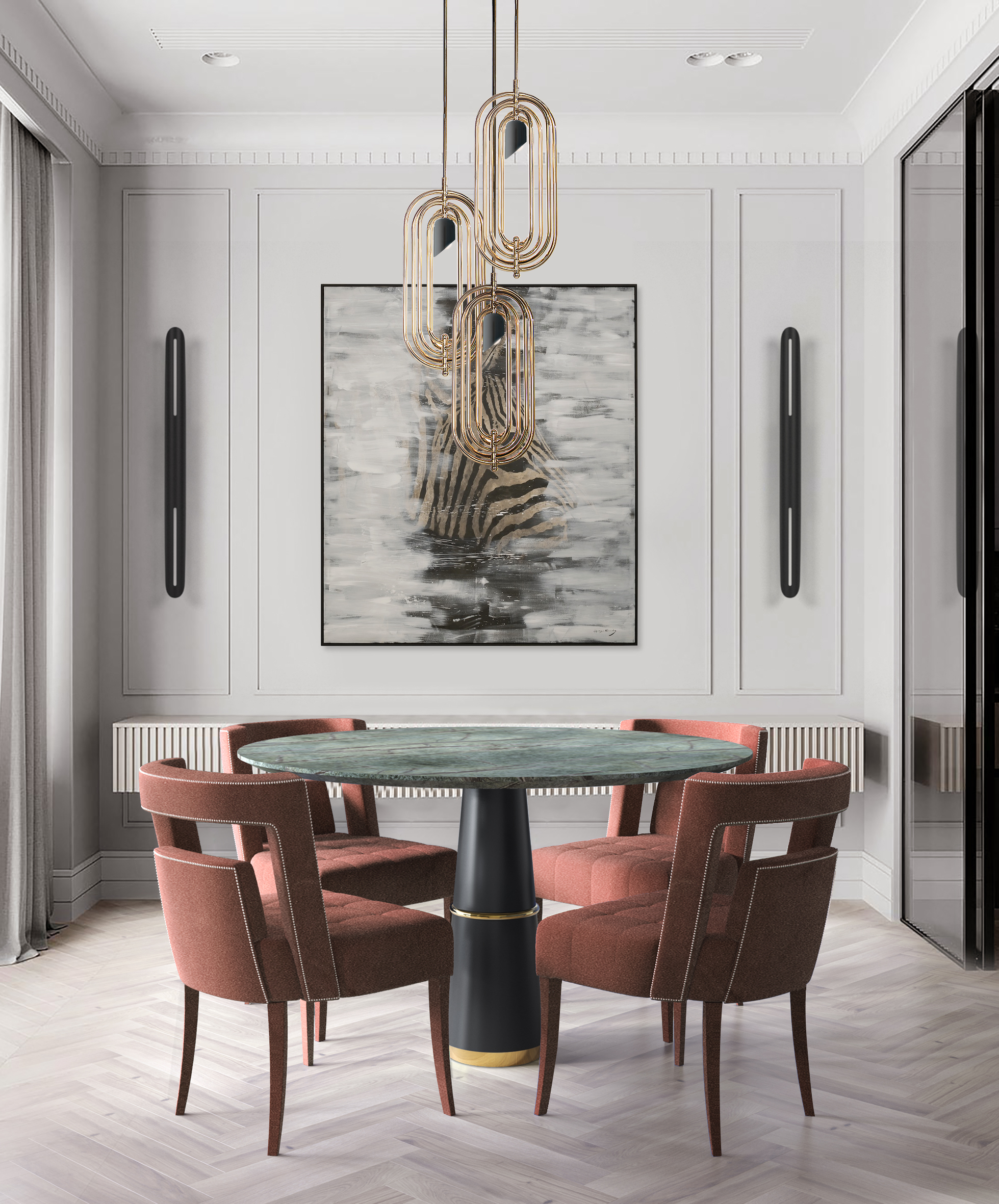7 Dining Rooms That Make The Most Out of Limited Space Due to the Lighting Fixture! dining rooms 7 Dining Rooms That Make The Most Out of Limited Space Due to the Lighting Fixture! 1 3