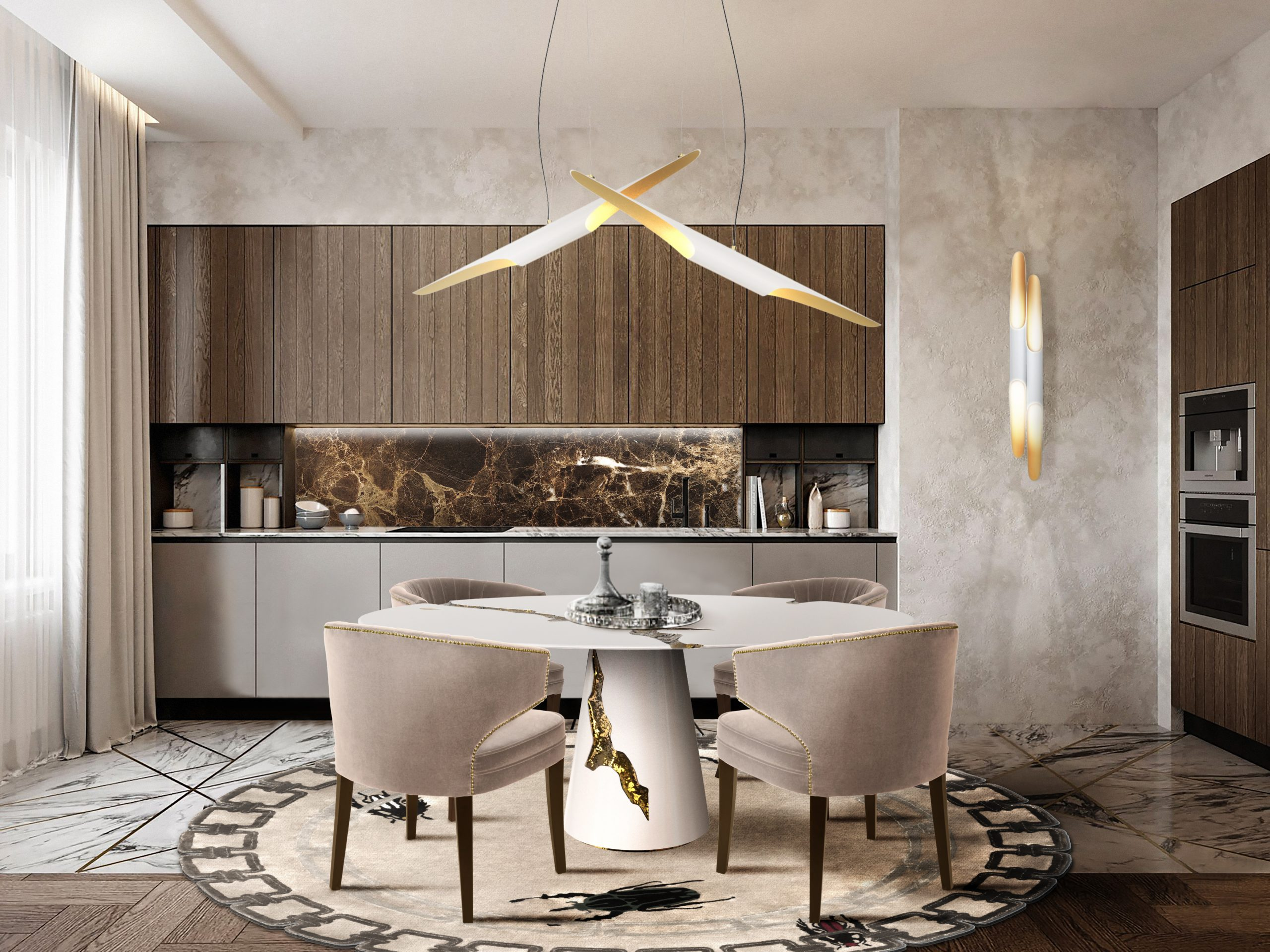 7 Dining Rooms That Make The Most Out of Limited Space Due to the Lighting Fixture! dining rooms 7 Dining Rooms That Make The Most Out of Limited Space Due to the Lighting Fixture! 4 4 scaled