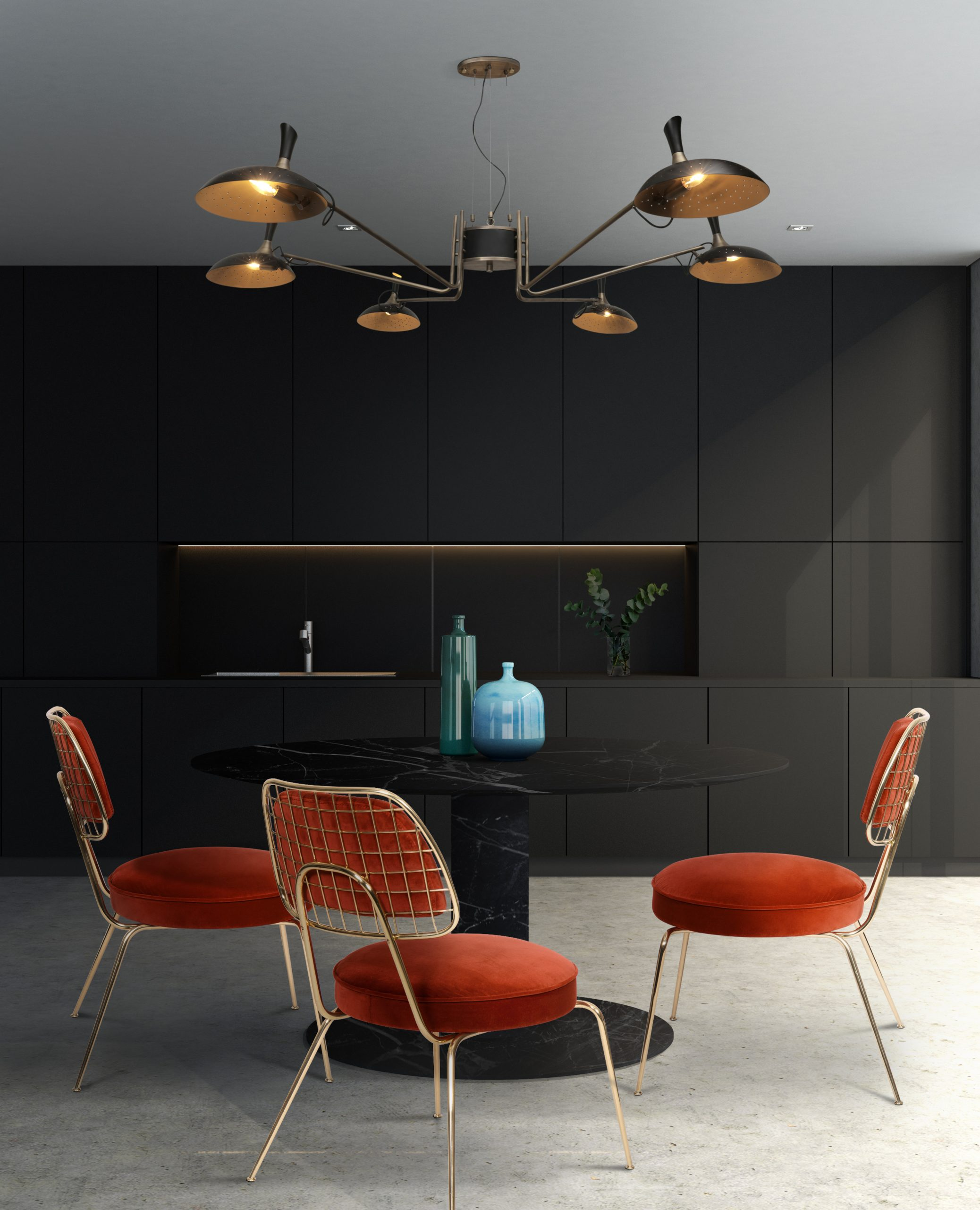 7 Dining Rooms That Make The Most Out of Limited Space Due to the Lighting Fixture! dining rooms 7 Dining Rooms That Make The Most Out of Limited Space Due to the Lighting Fixture! 5 3 scaled