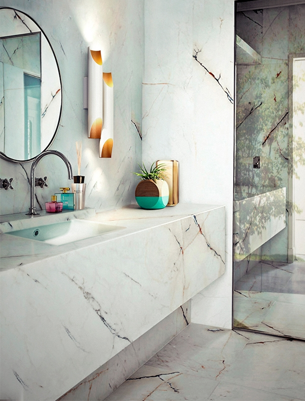 How These Lighting Pieces Added Warmth to a Cold, Unwelcoming Bathroom