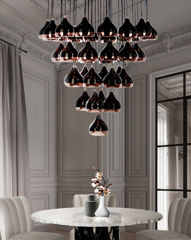 These Modern Chandeliers Really Shine (Even When the Switch Is Off) chandeliers These Modern Chandeliers Really Shine (Even When the Switch Is Off) hanna chandelier