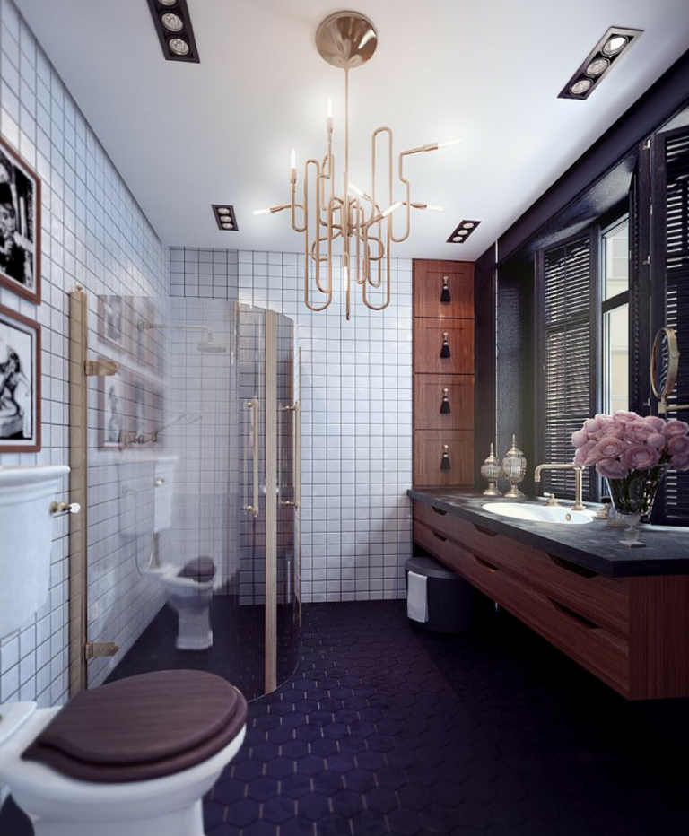 How These Lighting Pieces Added Warmth to a Cold, Unwelcoming Bathroom lighting pieces How These Lighting Pieces Added Warmth to a Cold, Unwelcoming Bathroom 8 1